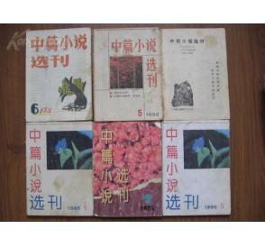 中篇小说选刊 5册 物品编号 1924728