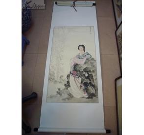 现代著名工笔重彩人物女画家王叔晖仕女轴 在线拍卖 孔夫子旧书网