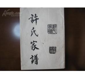 许氏家谱 南阳定皋图片