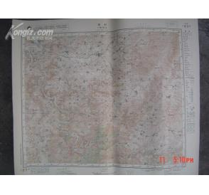 品好《文革山西省晋城县〈周村〉彩色地图