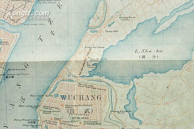 汉阳及武昌双色地图
