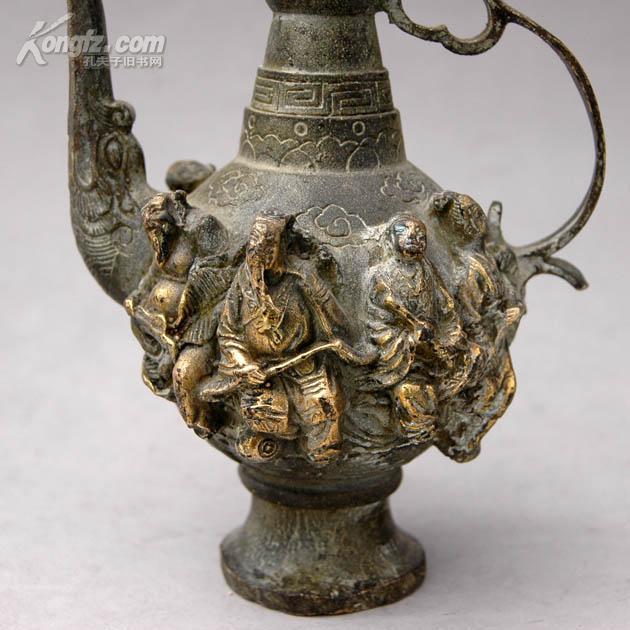 早期 青铜鎏金 八仙过海酒壶 拍品编号:5700681