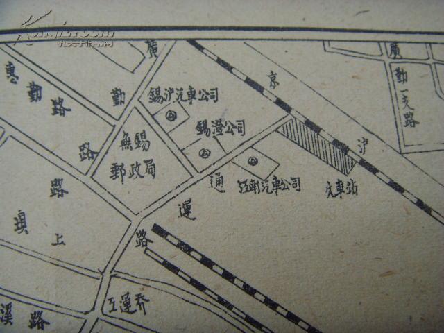 【图】民国地图:无锡县城区图