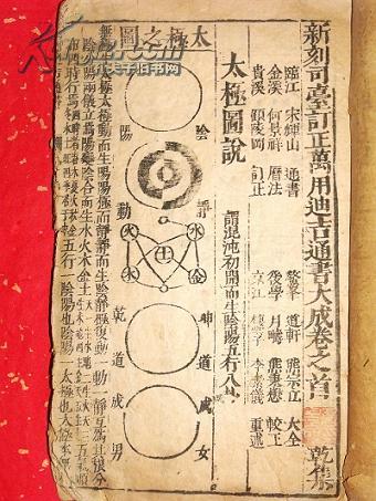 [线装古旧书拍卖品]拍卖会估价4000元的《新刻司台订正万用迪吉通书大成》500元低拍(有好几副精美的明版版画)。