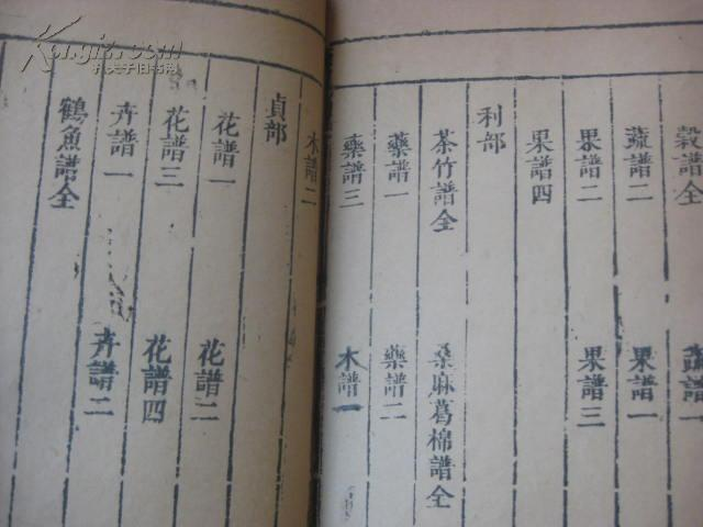 [线装古旧书拍卖品]明代刻本 二如亭群芳谱 28卷32册全 尺寸26*16.5厘米 天启年间跋语