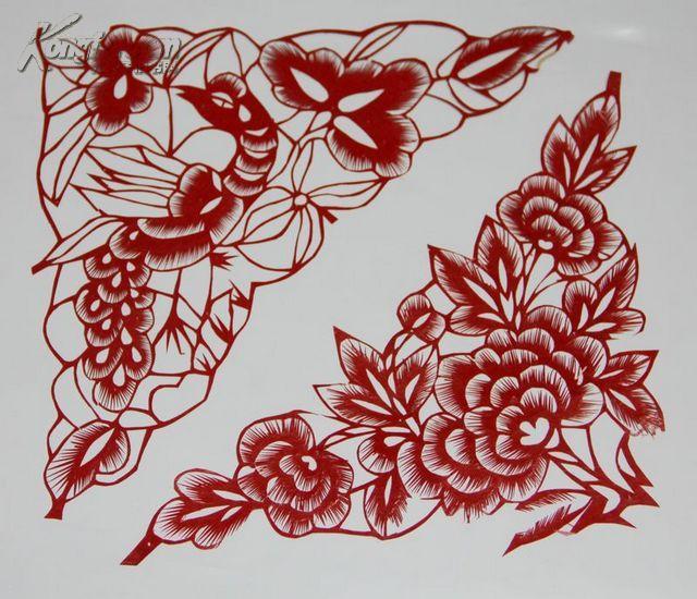 六瓣花剪纸图案大全 三瓣花剪纸图案大全 五瓣花剪纸图案大全