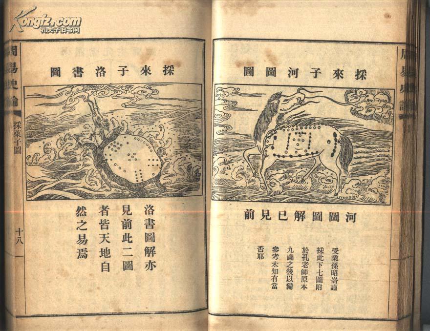 [民国旧书拍卖品]0704线装本《周易史论》阳穀孔广海仙洲著 上海明善书局1932年出版