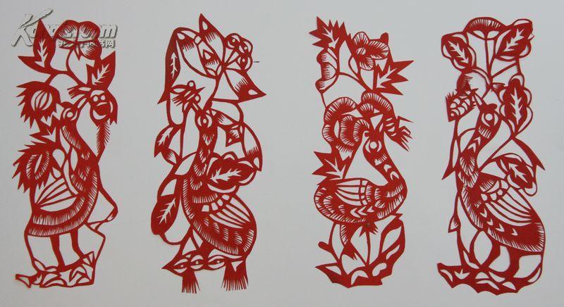 烟台剪纸博物馆藏品 建国初胶东老剪纸 (鹤) 12cm x5cm 拍品编号