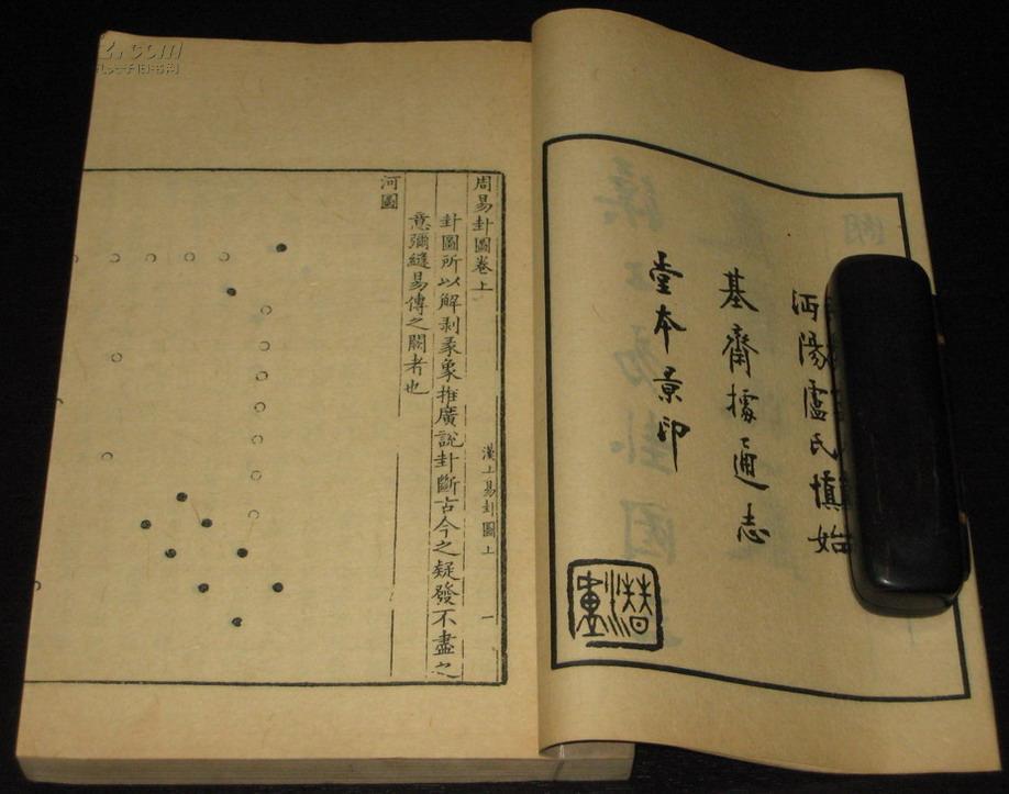 [线装古旧书拍卖品]【徐徐堂】民国影印本《汉上易卦图》三卷《丛说》一卷