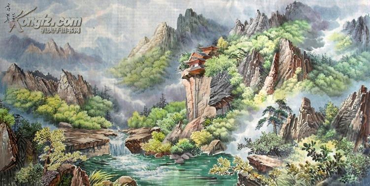 【朝鲜山水画专场】 朝鲜山水画一张 具有朝鲜民族独特风格的绘画艺术图片