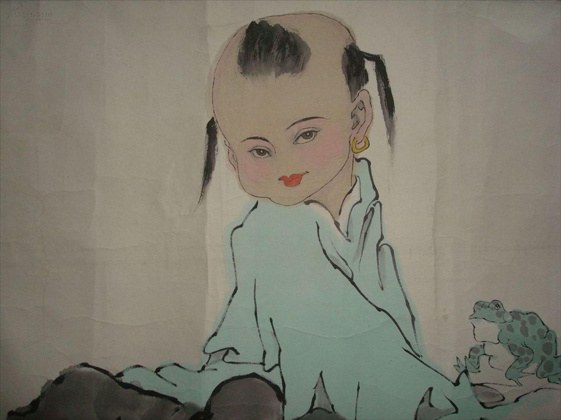 【图】当代艺术大师 擅长人物 范曾 和平吉祥 线