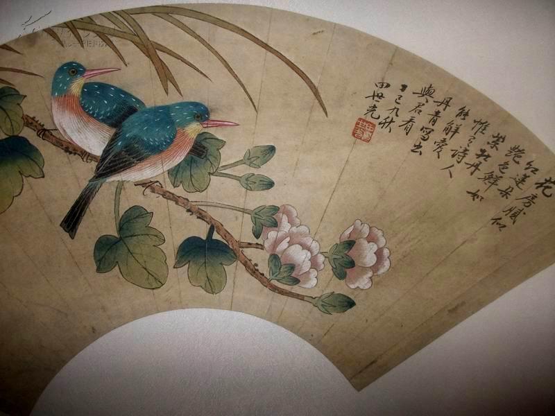 著名工笔画画家,北京工笔重彩画副会长【彩绘扇面】 拍品编号:9857457