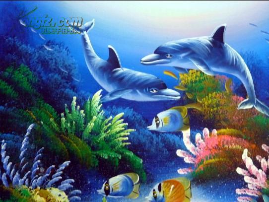 布上油画 海底动物 拍品编号:10556572