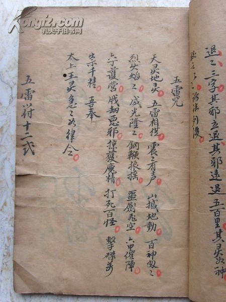一户里收上来的清代手抄本崂山秘籍法术攻略《苏园三道士图片