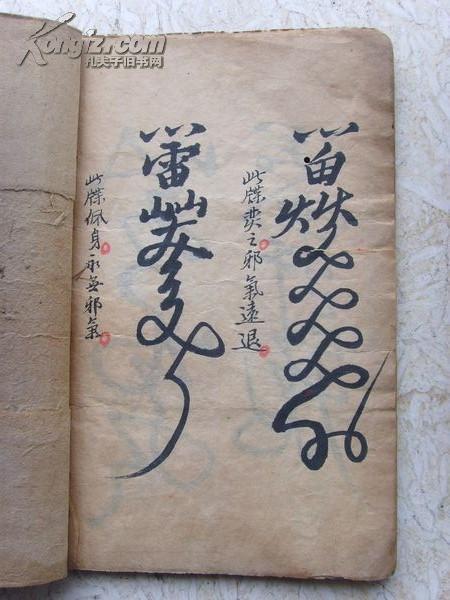 一户里收上来的清代手抄本崂山道士清廷法术《禧秘籍攻略图片