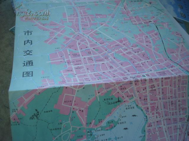 【图】老旅游地图---1992杭州西湖全景地图 独