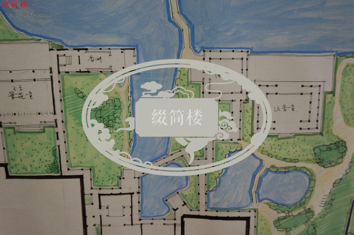 拙政园平面图手绘图片