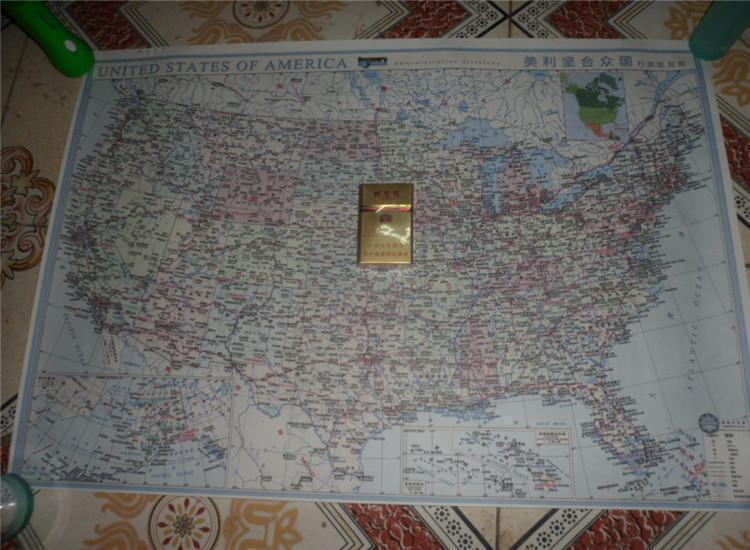 图片 美国地图【美利坚合众国行政区划图】中