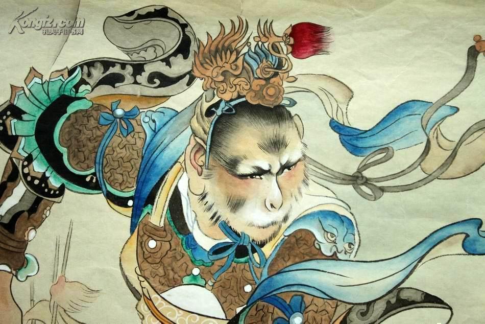 连环画艺术大师【刘继卣】工笔手绘画作------------【三打白骨精】