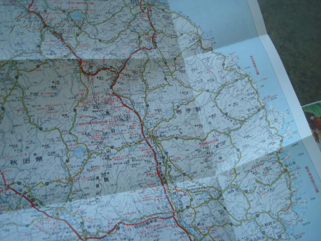 图片 老旅游地图---外国原版 日本东北自动车道