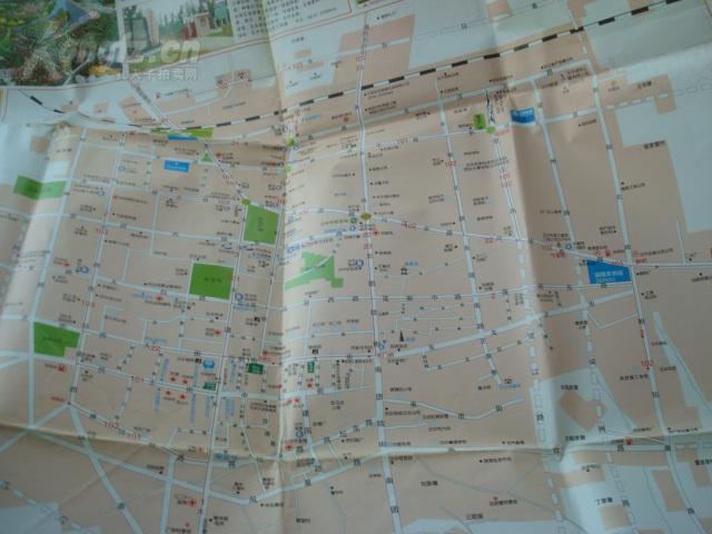 【图】老旅游地图---2005汉中旅游地图 超大 稀