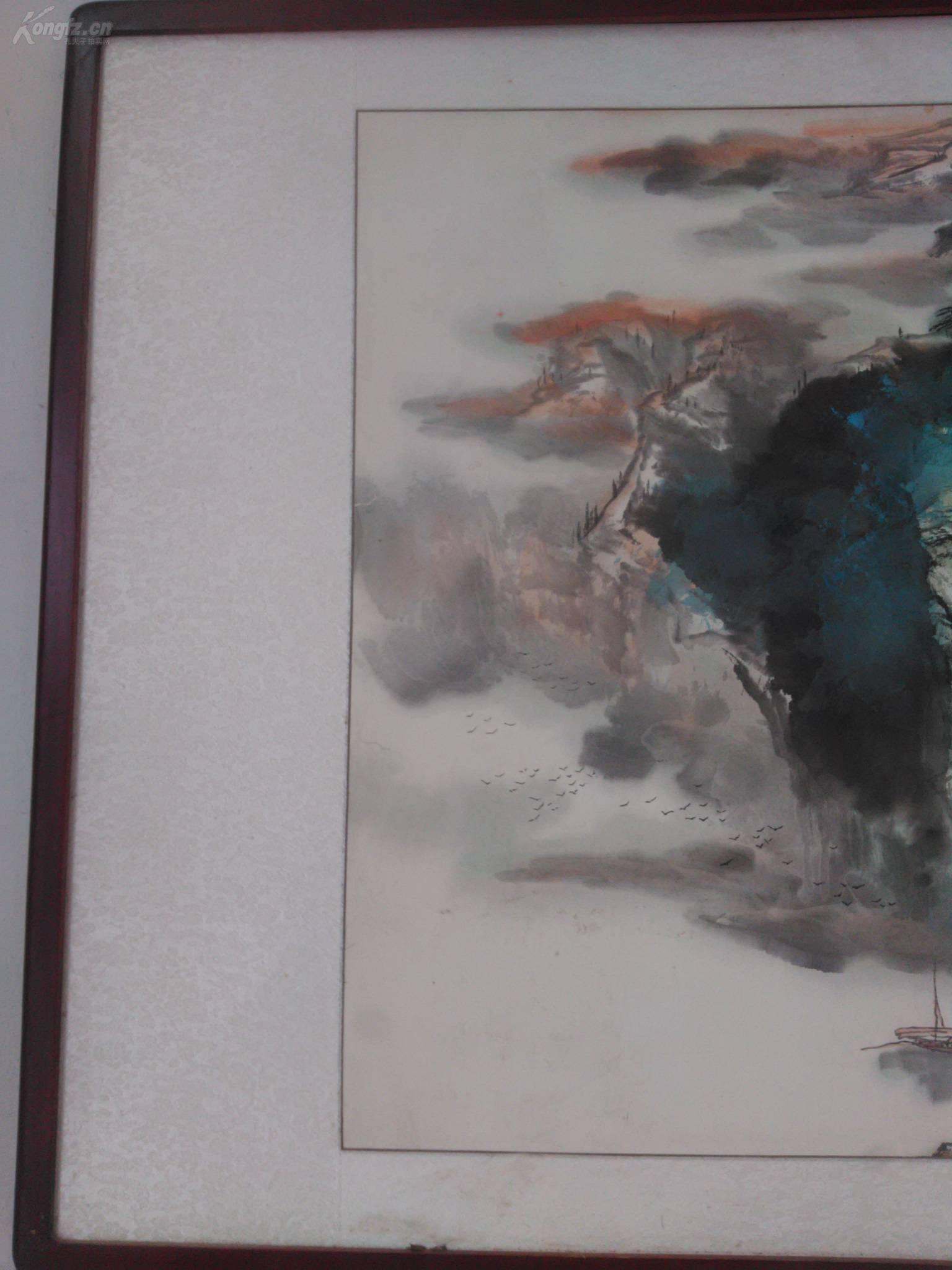 画廊推荐】●【泼彩山水】一位华裔美国画家,