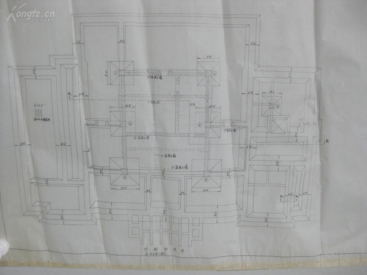 930年近代天津最大的建筑事务所--中国基泰工结构图纸砖窑图片
