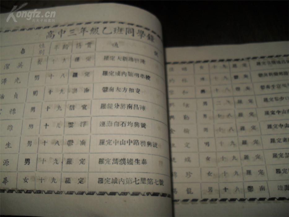 【图】省立罗定初中同学录(本校教职员一览表文文曲星现代阅读中学图片
