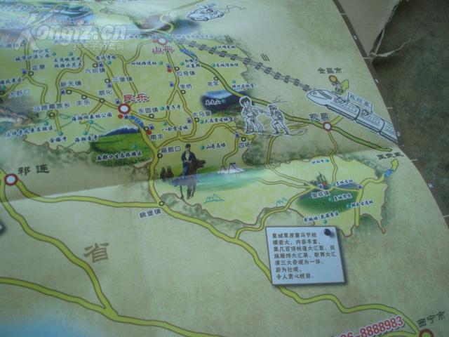 简约张掖旅游地图_张掖旅游景点