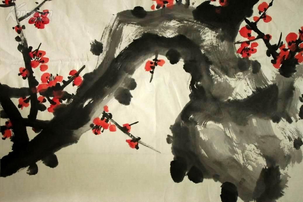 画家【关山月】红梅赞 拍品编号:24310688图片