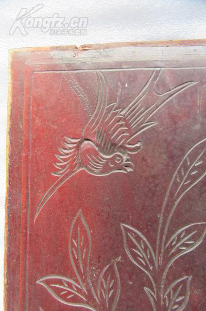 牡丹花鸟木雕花板一片 16101550z 65 (长) cm* 30 (宽) cm 拍品编号