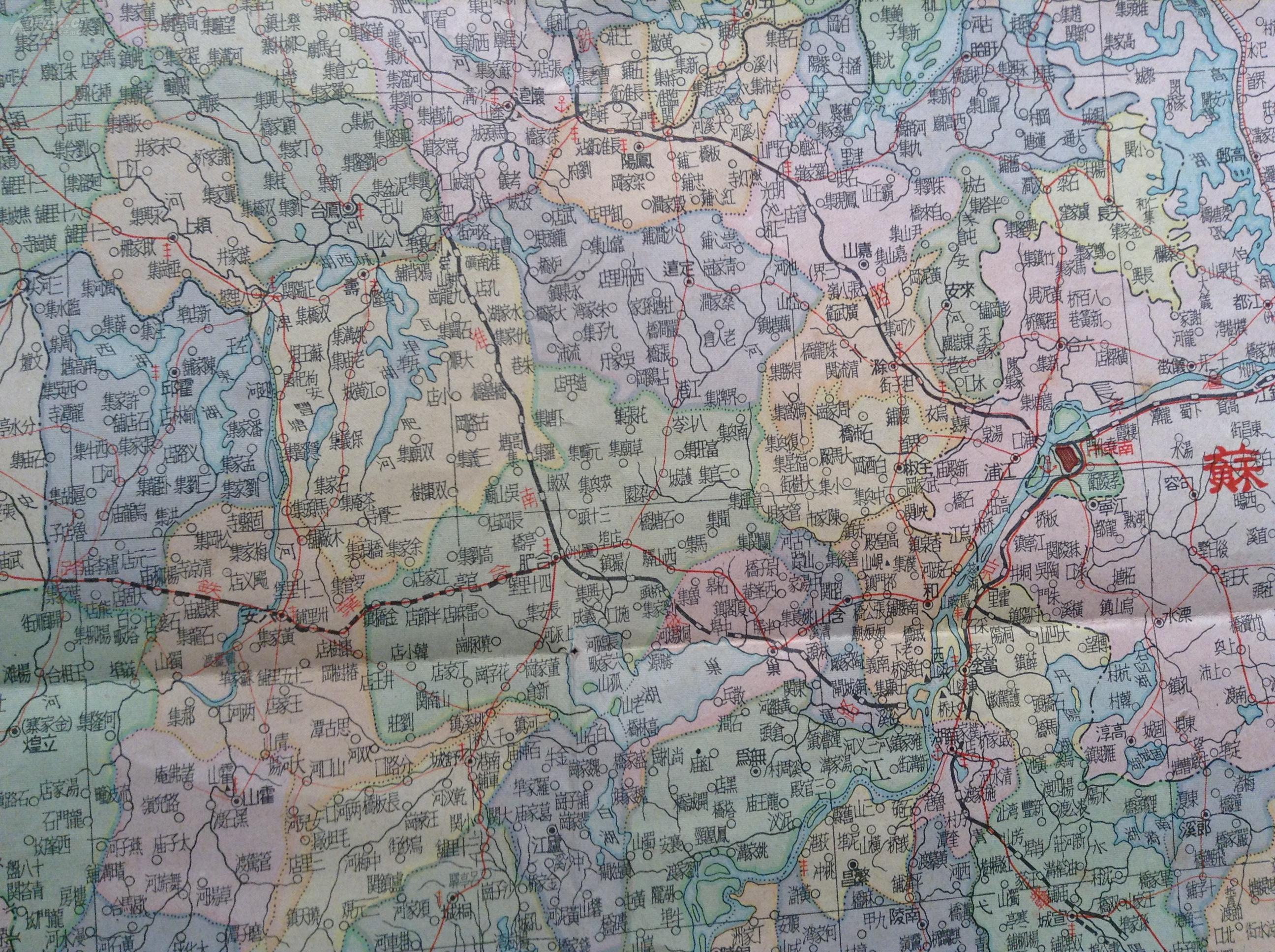 安徽省地图全图大图_中国地图高清版大图