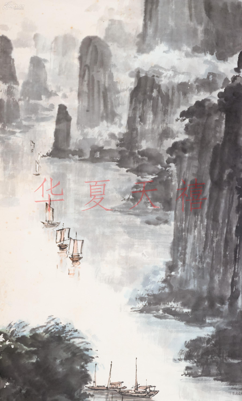 壁纸 风景 国画 旅游 瀑布 山水 桌面 1807_3000 竖版 竖屏 手机