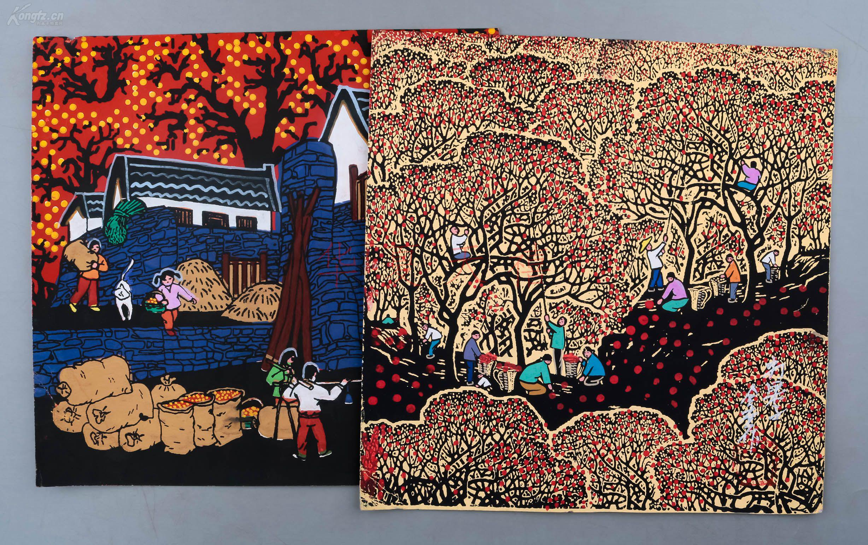 曹�NiY�[���h^[�_户县农民画代表画家,陕西省农民画协常务副主席 曹金堂 水粉画作品