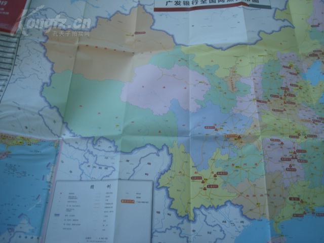 老旅游地图--- 广发银行全国 +北京 网点分布地