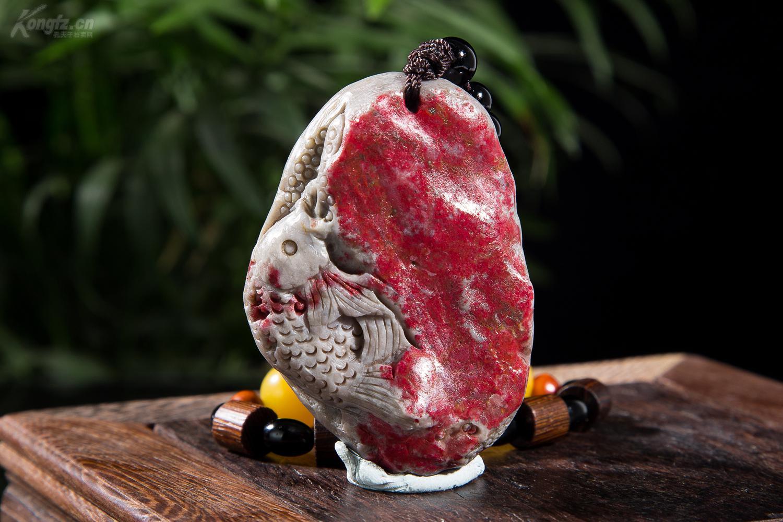 上一块重量级别的鲤鱼:昌化大红袍鸡血石宝贝个人一暗恋初中图片