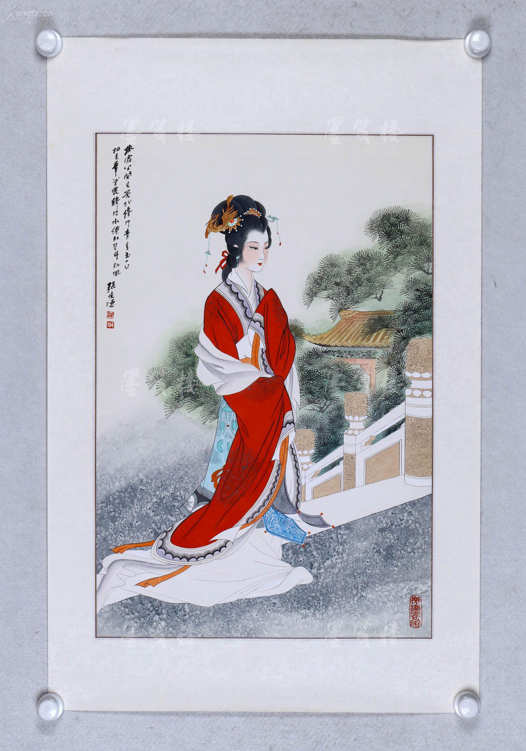 曹�NiY�[���h^[�_曹-春-生旧藏:著名美术家,内蒙古中国画院院长 张俊德 工笔人物画作品