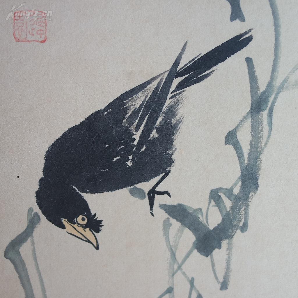 早期收藏--中国现代著名花鸟画家王雪涛《花鸟