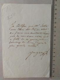 """""""新古典主义大师"""" 顶级画家 安格尔(Jean Auguste Ingres)亲笔信 附证书  孔网首现"""