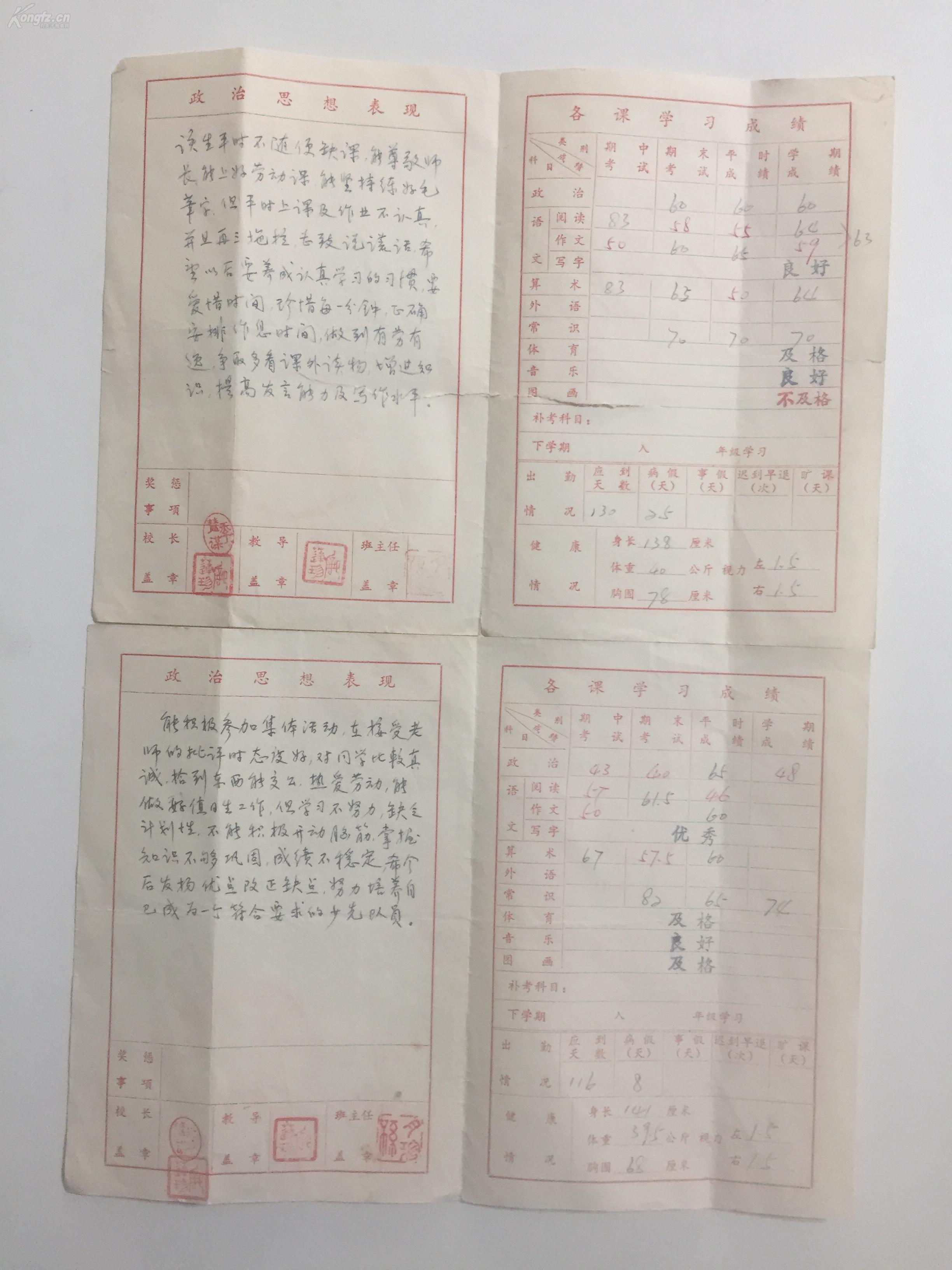 1980年苏州市志成小学五(1)班《学生情况v小学小学招生政策泸州图片
