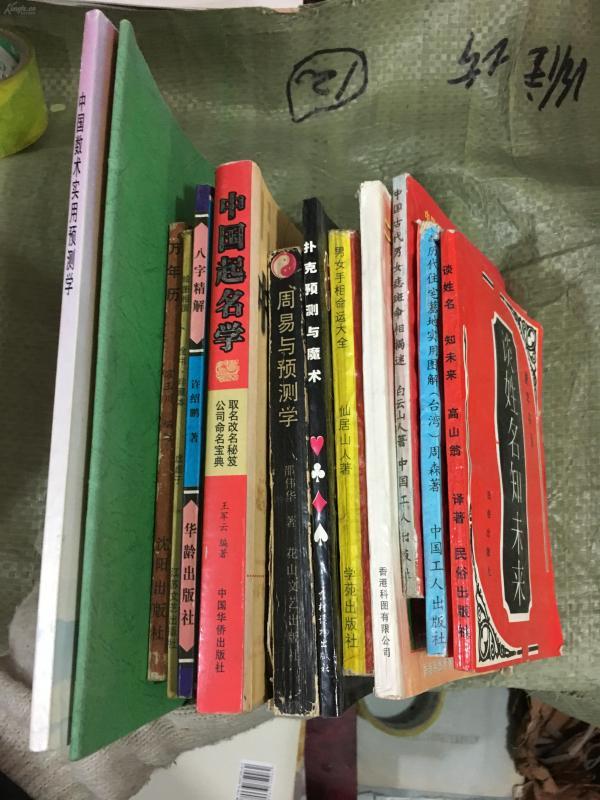 周易类书籍13册合拍(包邮)