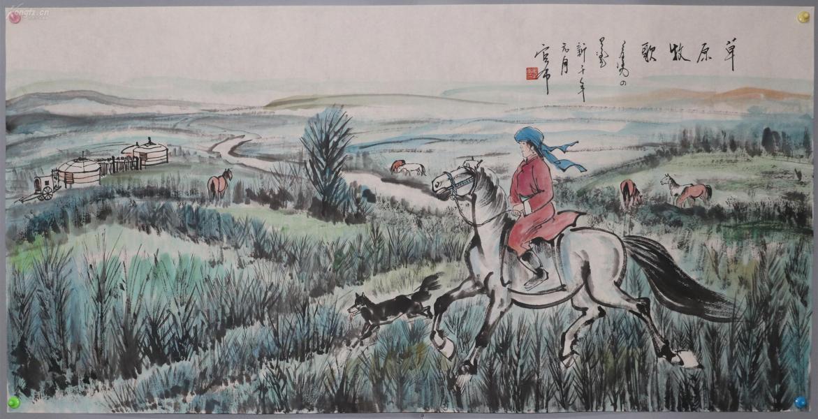 内蒙古美协副主席、北京美副主席【官布】山水
