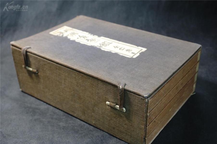 品相特好:【新纂——佛像图鉴】(1函4册全),1932年,佛像图近千幅。佛教珍籍刊行会藏版。 包角品佳