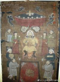 1100年前遼代皇帝和金國北宋打仗絹本畫  已經上拍賣