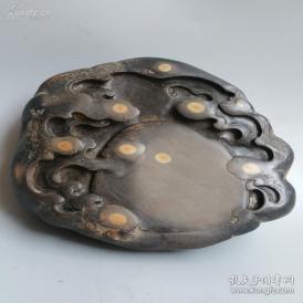 【重磅】老坑端溪随形砚 有十多个天然珍贵石眼 极其珍贵难得