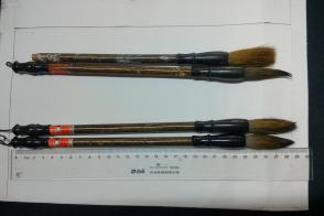 旧毛笔,老毛笔,库存毛笔4支