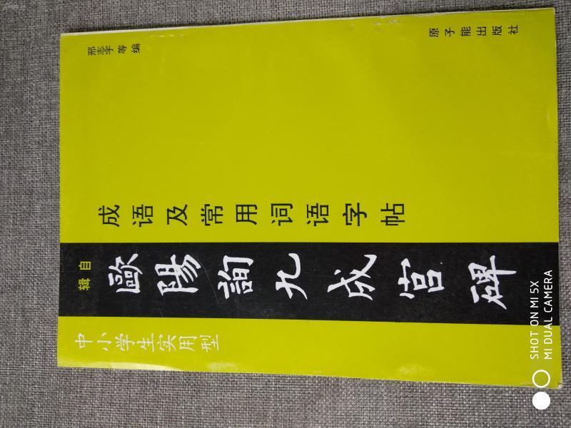 欧阳询九成宫碑       16开本 文物出版社的经典字帖5, 很多人学习书法用的资料