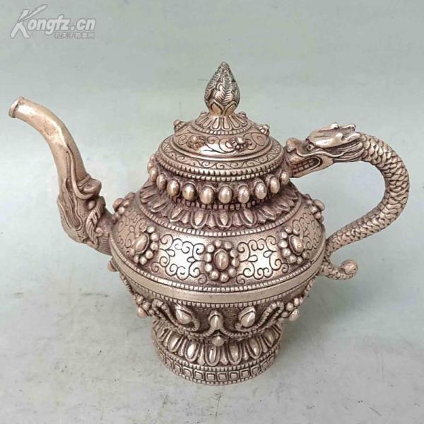 古玩铜器纯铜铜壶摆件
