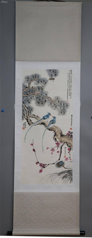 著名戲曲大師 梅蘭芳 尚小云、程硯秋、荀慧生 花鳥 純手繪