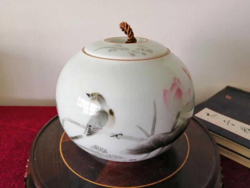 花鳥茶葉罐